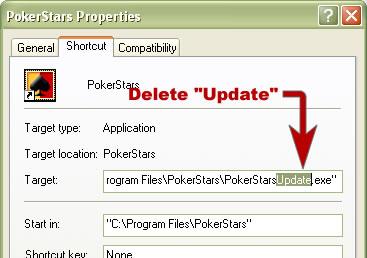 pokerstars update not working